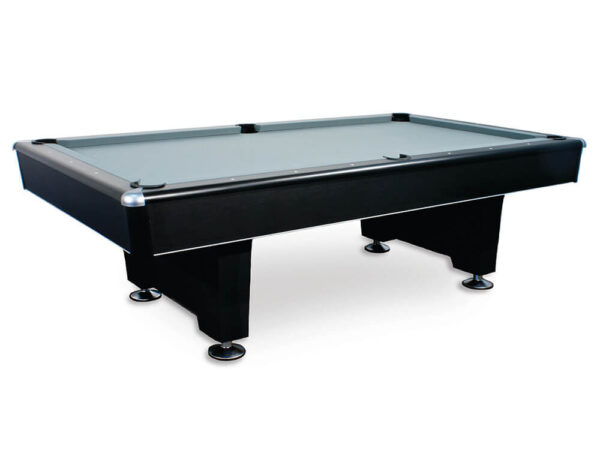 Black playing surface with grey felt