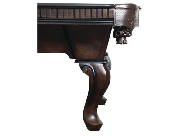 Leg of a pool table in a ball and claw style