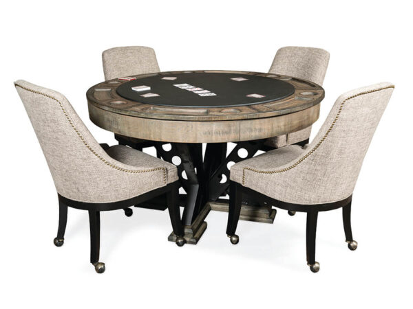 Poker table with 4 chairs