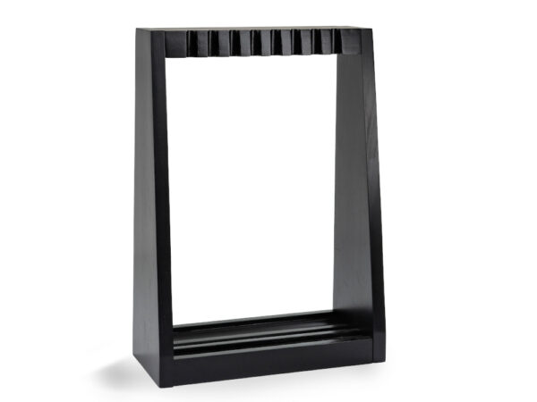 frame of a pool cue rack standing upright